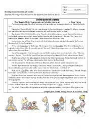 English Worksheets: Queen of dolls