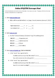 English Worksheet: Online English Scavenger Hunt