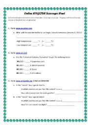 English Worksheets: Online English Scavenger Hunt