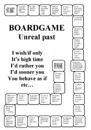 English Worksheet: Unreal past - a boardgame (editable)