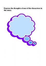 English Worksheets: Character�s thoughts