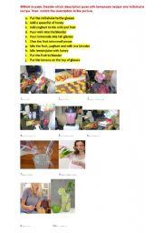 English Worksheet: cooking verbs, preparing food