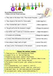 English worksheet: Grammar