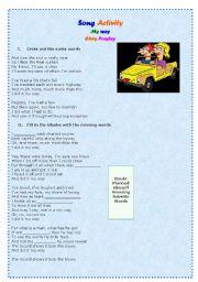 English Worksheets: My way