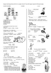 English Worksheets: exan for 6 th grade