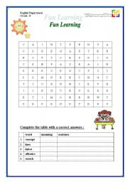 English Worksheets: Vcabulary