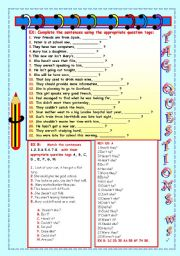 English Worksheets: TAG QUESTIONS WS.