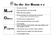 English Worksheets: In The Art Room