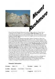 English Worksheets: Mount Rushmore