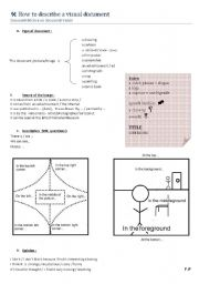 English Worksheets: How to describe a picture