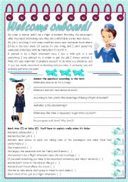 English Worksheet: Welcome onboard! � reading comprehension + grammar (the use of the infinitive) [5 tasks] KEYS INCLUDED ((3 pages)) ***editable