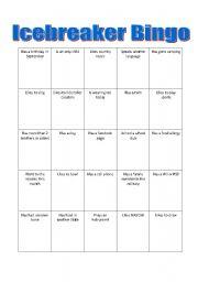 english teaching worksheets ice breakers