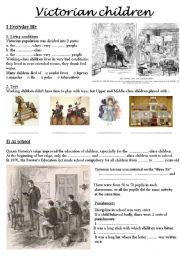 English Worksheet: Victorian children