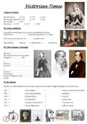 English Worksheet: Victorian times