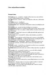 english worksheets crime and punishment vocabulary. Black Bedroom Furniture Sets. Home Design Ideas