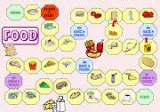 English Worksheet: Food - Game