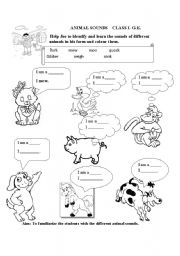 English Worksheets: Animal sounds
