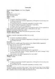 English Worksheet: Charity