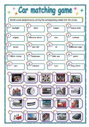english worksheets parts of car worksheets. Black Bedroom Furniture Sets. Home Design Ideas