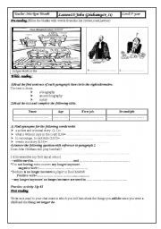 English Worksheets: lesson15:John Grisham firrst year Tunisian pupils
