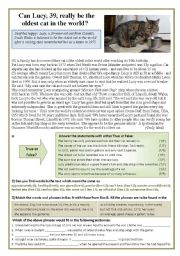 English Worksheets: The oldest cat in the world - Lucy at 39