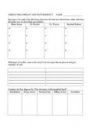 English Worksheets: Character Conflict Tone and Point of View