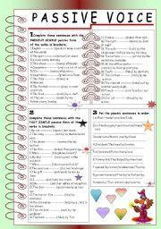 Passive Voice Present Simple Past Simple Esl Worksheet By