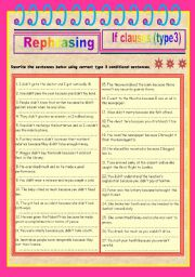Rephrasing if-clauses (type 3)
