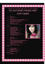 Song activity - Kate Voegele - You can´t break a broken heart