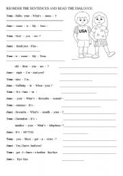 Worksheet Writing Dialogue Worksheet dialogue worksheets for kids delwfg com esl reorder the sentences