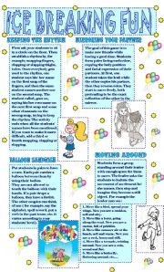 English Worksheet: MOVEMENT GAMES FOR CHILDREN/ ICE BREAKING FUN