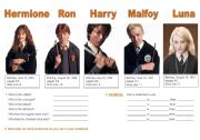 English Worksheets: Harry Potter comparative and superlative