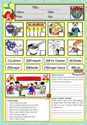 English Worksheet: Chinese New Year WS