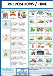 English Worksheets: PREPOSITIONS / TIME
