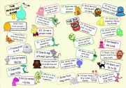 English worksheet: THE MONSTER GAME