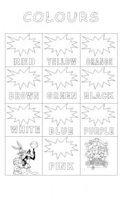 English Worksheets: Colours Crafts