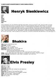 Essay about famous people