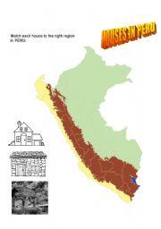 English Worksheet: Types of houses in Peru (Southamerica)