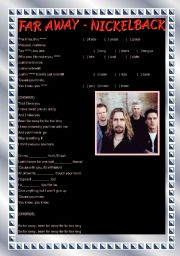 English Worksheet: Song activity - Far Away - Nickelback