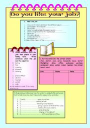 English Worksheet: jobs and expressing preferences