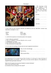 English Worksheets: Romeo+Juliet the film (The mask)