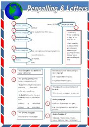English Worksheets: Penpalling & Letters