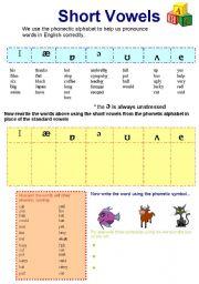 Phonetic alphabet short vowel sounds