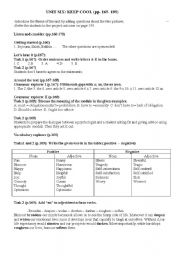 English Worksheets: Unit six 3AS