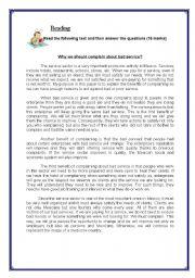 English Worksheet: persuasive article