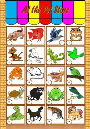 English Worksheets: At the Pet Store � vocabulary and writing [3 tasks] KEYS INCLUDED ((3 pages)) ***editable