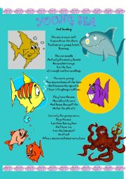 English Worksheet: the young sea - a poem