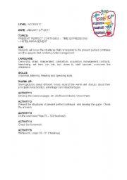 English worksheet: LESSON PLAN 4