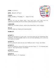 English worksheet: LESSON PLAN 5