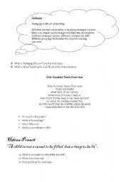 English Worksheets: Pedagogy Working with translation